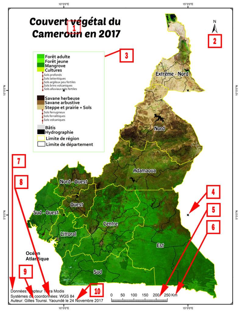 Cartographie Vegetation Cameroun