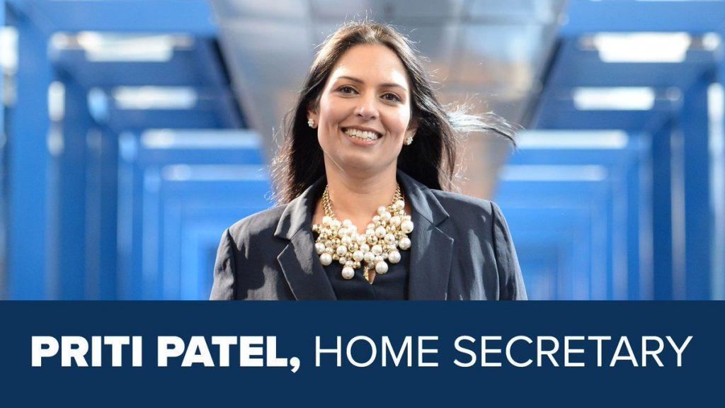 Priti Patel Home Secretary